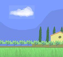 Tuscany countryside by Nigel Silcock