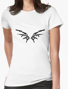 Gun Wings Womens Fitted T-Shirt