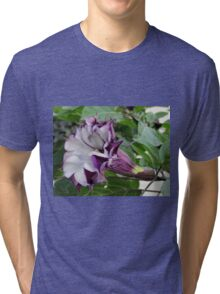 Purple Moon Flower Tri-blend T-Shirt