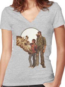 The Last of Us - Giraffe Women's Fitted V-Neck T-Shirt