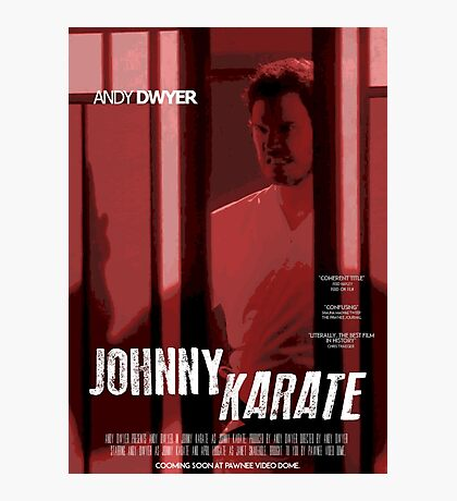Johnny Karate poster Photographic Print