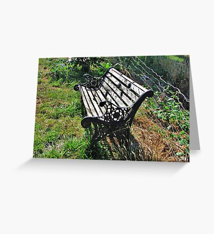 Abandoned Bench Greeting Card