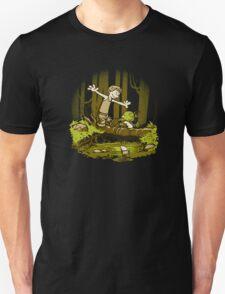 luke and yoda calvin and hobbes T-Shirt