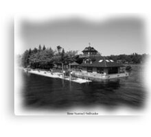 St. Lawrence Seaway/Thousand Islands in Black & White Canvas Print