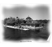 St. Lawrence Seaway/Thousand Islands in Black & White Poster