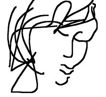 female head -(120611)- digital artwork/ms paint by paulramnora