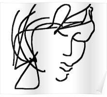 female head -(120611)- digital artwork/ms paint Poster
