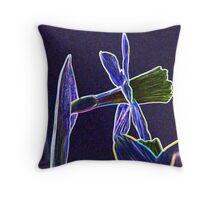 Artistic Daffodil Throw Pillow