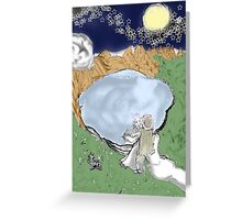 Scrying in Uncertainty Greeting Card