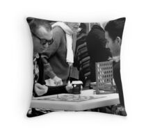 Where fate lies in the roll of the Dice (Garden Games) Throw Pillow