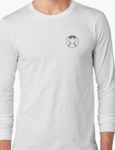 Agents of SHIELD / Dark Gray Reversed Long Sleeve T-Shirt