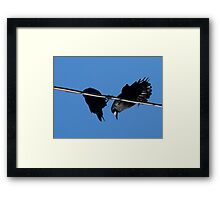 What you saying ? Framed Print