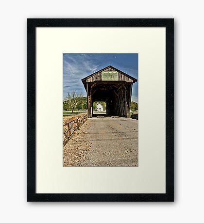 Through The Bridge Framed Print
