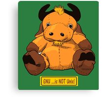 GNU...is NOT the same as UNIX! Canvas Print