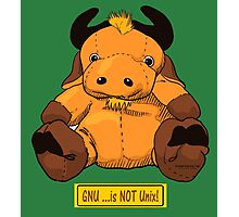 GNU...is NOT the same as UNIX! Photographic Print