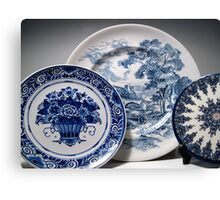 Delft and Wedgewood Still Life Canvas Print