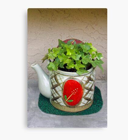 Potted Teapot Canvas Print