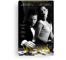 """Macklin"" poster 1 Canvas Print"