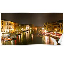 Four Seconds in Venice - view from the Ponte di Rialto Poster