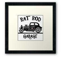 RAT ROD GARAGE...Product of the U.S.A.! Framed Print