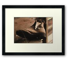 No more walkin for these boots! Framed Print