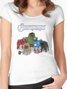 The Pugvengers Women's Fitted Scoop T-Shirt