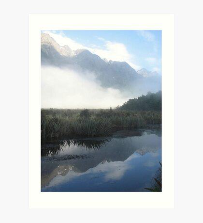 Mirror Lakes - New Zealand Art Print