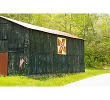 Kentucky Barn Quilt - July Summer Sky Photographic Print