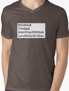 U2: Band Member Names Mens V-Neck T-Shirt