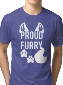 PROUD FURRY Tri-blend T-Shirt