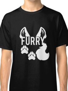 FURRY -white text- Classic T-Shirt