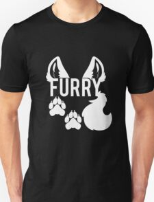 FURRY -white text- T-Shirt
