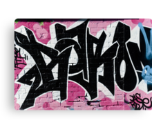 Abstract Graffiti Ornament on the Brick Wall Canvas Print