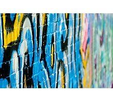 Abstract Graffiti Closeupon the textured Brick Wall Photographic Print