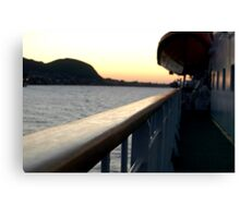 trondheim ferry at dusk Canvas Print