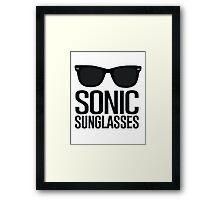 Sonic Sunglasses 2 Framed Print
