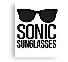 Sonic Sunglasses 2 Canvas Print