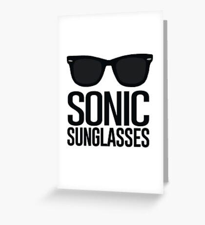 Sonic Sunglasses 2 Greeting Card