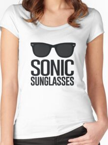 Sonic Sunglasses 2 Women's Fitted Scoop T-Shirt