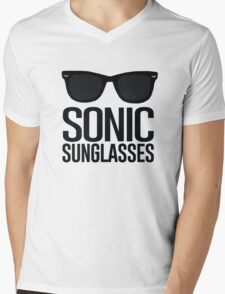 Sonic Sunglasses 2 Mens V-Neck T-Shirt