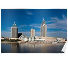 Mobile, Alabama Skyline Poster