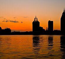 Mobile, Alabama Skyline silhouette by Tad Denson