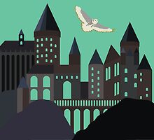 Hogwarts Illustration by DesignsByAND