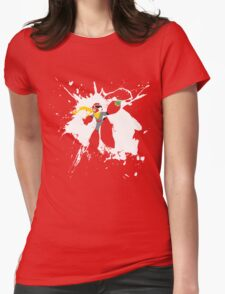 Protoman Paint Explosion Womens Fitted T-Shirt