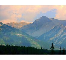 Pink Skies over the Rockies 2015 Photographic Print