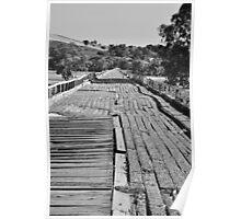 Old Gundagai Rail Bridge Poster