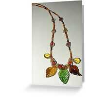 Earth Elemental Necklace Greeting Card