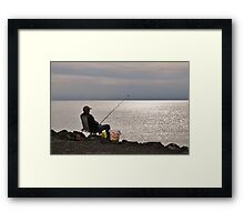 Waiting for someone you've never seen before..... Framed Print
