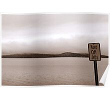 View from jetty on Winnipesaukee Poster