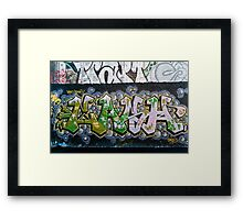 Grunge Graffiti Wall Framed Print